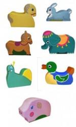 Детский игровой набор «Зоопарк» в ассортименте (слон, дельфин, заяц, уточка, улитка, собака, белочка, рыбка)